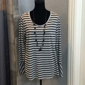 Hannah striped knit top